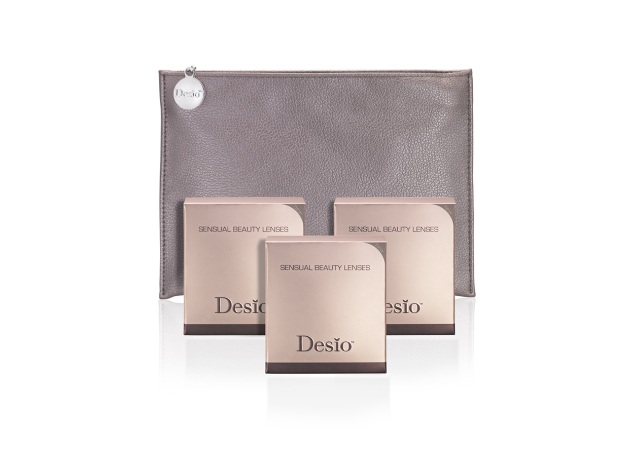 desio sensual beauty lenses and cosmetic bag
